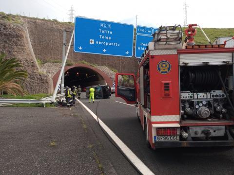 Accidente en la circunvalación de Las Palmas de Gran Canaria/ canariasnoticias
