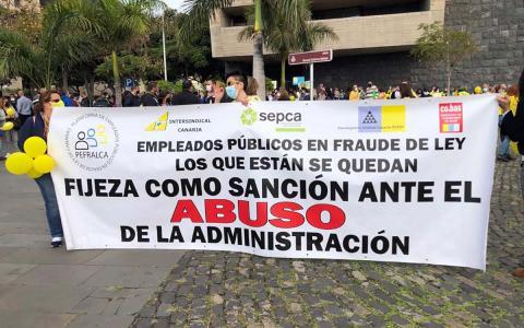 Huelga de trabajadores públicos/ canariasnoticias