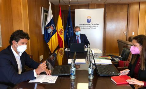 Videoconferencia de Sebastián Franquis con el ministro de vivienda David Lucas / CanariasNoticias.es