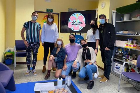 Yaiza López con la Asociación Juvenil y Cultural Kaua / CanariasNoticias.es