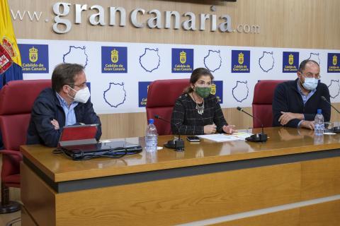 Inés Miranda, Raúl García Brink y Carlos Rodríguez / CanariasNoticias.es