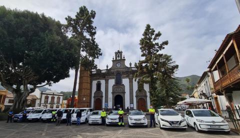 Presentación de los vehículos eléctricos de Teror / CanariasNoticias.es