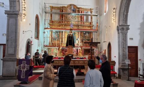 Retablo mayor de la Iglesia de San Francisco. La Palma/ canariasnoticias