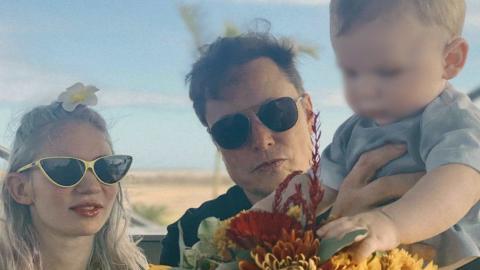 Elon Musk, Grimes y su hijo X AE A-Xii