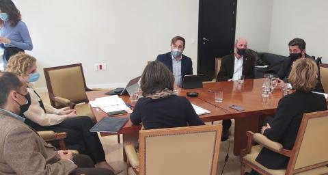 Reunión del alcalde de La Laguna con Hana Jalloul, secretaria de Estado de Migraciones / CanariasNoticias.es
