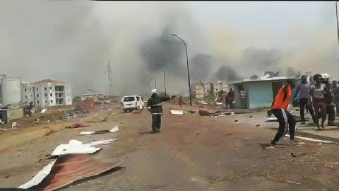 Explosiones. Bata. Guinea Ecuatorial/ canariasnoticias