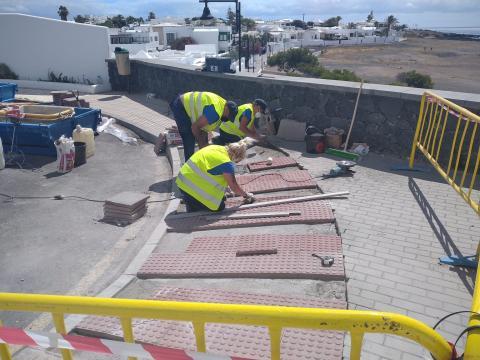 Obras de accesibilidad de Arrecife (Lanzarote) / CanariasNoticias.es