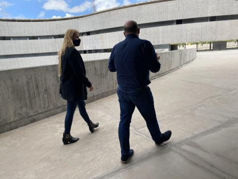 Carla Cabrera y Alfonso Ruiz en la ULL / CanariasNoticias.es