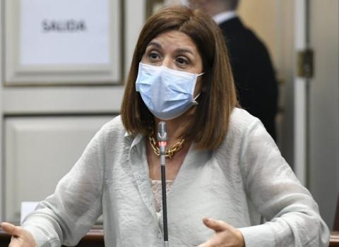Carmen Hernández (NC) en el Parlamento de Canarias / CanariasNoticias.es