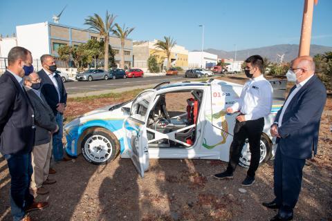 Presentación mundial en Gran Canaria del primer coche de rallycross 100% eléctrico / CanriasNoticias.es