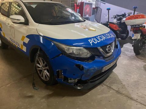 Vehículo accidentado de la Policía Local de Candelaria (Tenerife) / CanariasNoticias.es