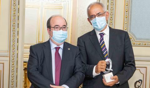 El ministro Miquel Iceta y Daniel Cerdán