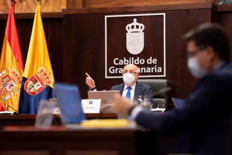 Antonio Morales. Pleno del Cabildo de Gran Canaria/ canariasnoticias