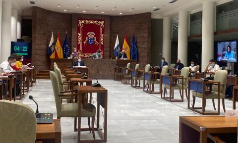 Blas Trujillo en la Comisión de Sanidad / CanariasNoticias.es