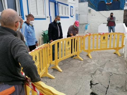 Hundimiento del Paseo de Tufia, Telde (Gran Canaria) / CanariasNoticias.es