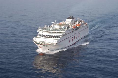 Barco de Naviera Armas