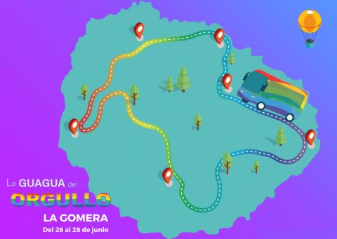 Recorrido de 'La Guagua del Orgullo' en La Gomera / CanariasNoticias.es