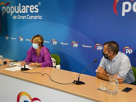 Pepa Luzardo y Ángel Sabroso, concejales del Ayuntamiento de Las Palmas de Gran Canaria