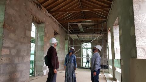 Instalada la cubierta interior del futuro Centro de Interpretación y Turismo de Teror / CanariasNoticias.es