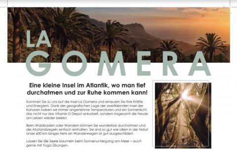 La Gomera, Turismo, Apotheken Umschau/ Canariasnoticias