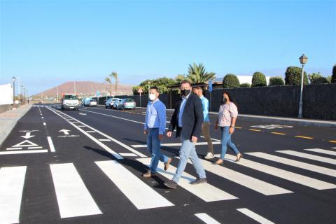 Obras viarias en Costa Papagayo en Yaiza (Lanzarote) / CanariasNoticias.es