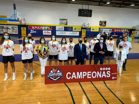 Homenaje del Ayuntamiento de Las Palmas de Gran Canaria al Spar Gran Canaria Junior tras ganar Campeonato de España / CanariasNoticias.es