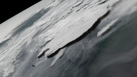 Un pirocumulonimbo sobre la Columbia Británica, Canadá, el 1 de julio de 2021