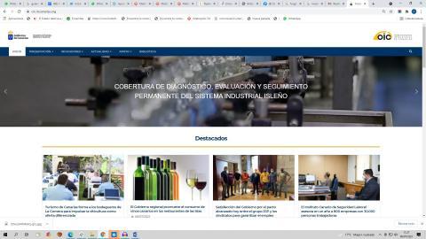 Web del Observatorio industrial de Canarias (OIC) / CanariasNoticias.es