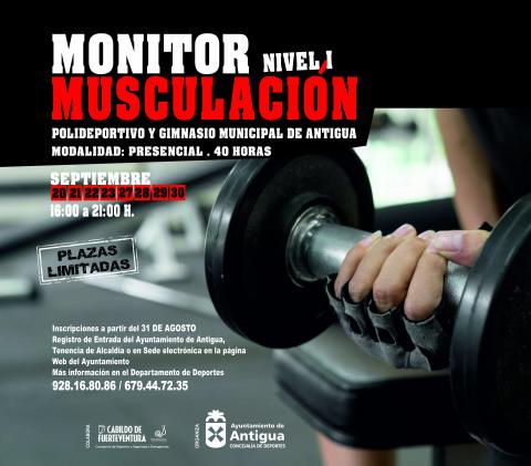 Curso de Monitor de Musculación Nivel I. Antigua. Fuerteventura/ canariasnoticias