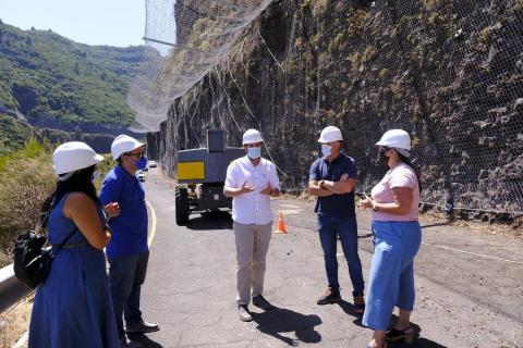 Visita a las obras de la carretera LP-1en el barranco de Gallegos / CanariasNoticias.es