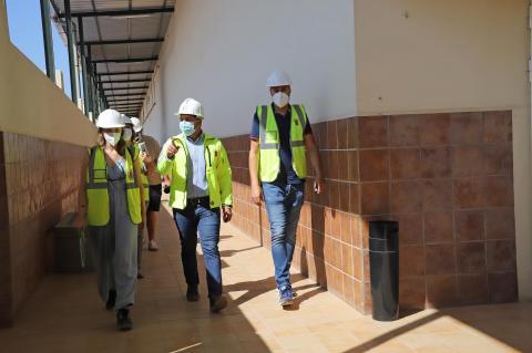 Visita a las obras de las instalaciones de la Ciudad Deportiva Lanzarote / CanariasNoticias.es