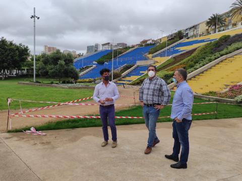 CC-UxGC denuncia la desidia del tripartito en el parque del Estadio Insular