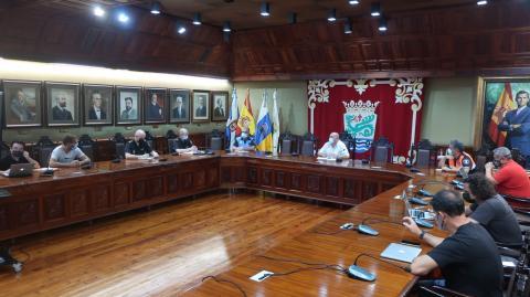 Reunión de seguridad de Phe Festival de Puerto de la Cruz (Tenerife)/ CanariasNoticias.es