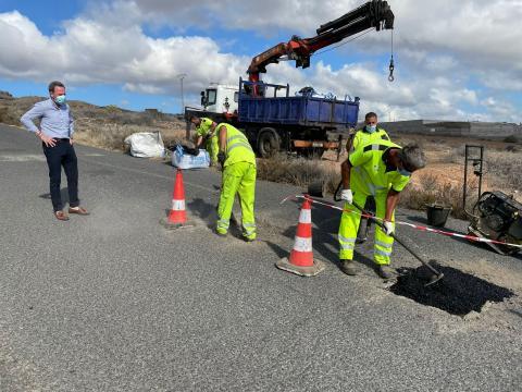 Mantenimiento de vías en Telde / CanariasNoticias.es
