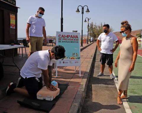 Prevención de Ahogamientos. Playa de La Garita. Arrieta. Lanzarote/ canariasnoticias