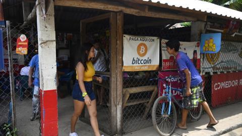 Tienda en El Salvador donde se aceptan bitcoines