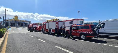 Bomberos de Tenerife rumbo a La Palma