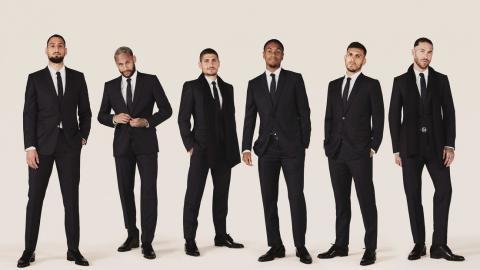 Varios de los jugadores del PSG con prendas de Christian Dior