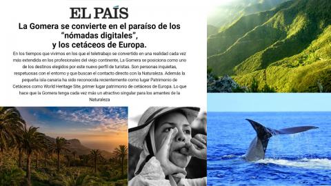 """Publicación de """"El viajero"""" sobre La Gomera"""
