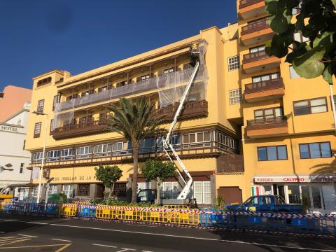 Obras de emergencia en el antiguo Parador de Turismo de Santa Cruz de La Palma / CanariasNoticias.es