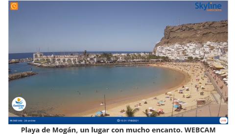 Mogán instala en varias playas webcams