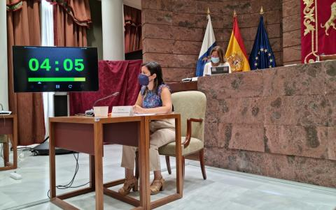 Yaiza Castilla en el Parlamento de Canarias / CanariasNoticias.es