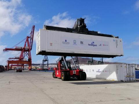 Boluda Shipping colabora en el traslado de dos desaladoras para riego de cultivos en La Palma / CanariasNoticias.es