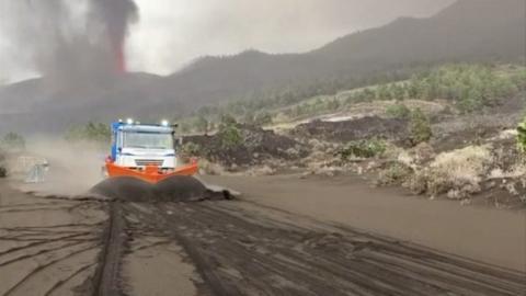 Cenizas del volcán de La Palma/ canariasnoticias.es