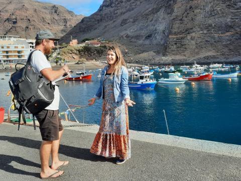 El periodista noruego Runar Halvorsen visita La Gomera / CanariasNoticias.es