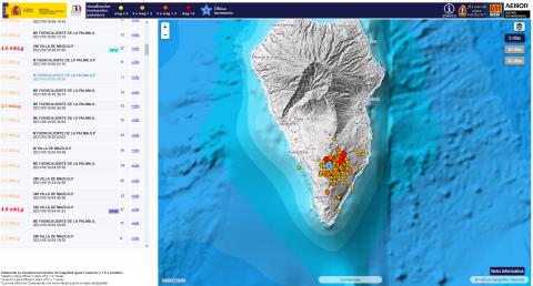 Enjambre sísmico de La Palma/ canariasnoticias.es